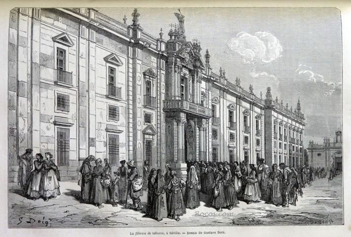 Sevilla 1411 fabrica de tabacos de for Fabricantes de muebles en sevilla
